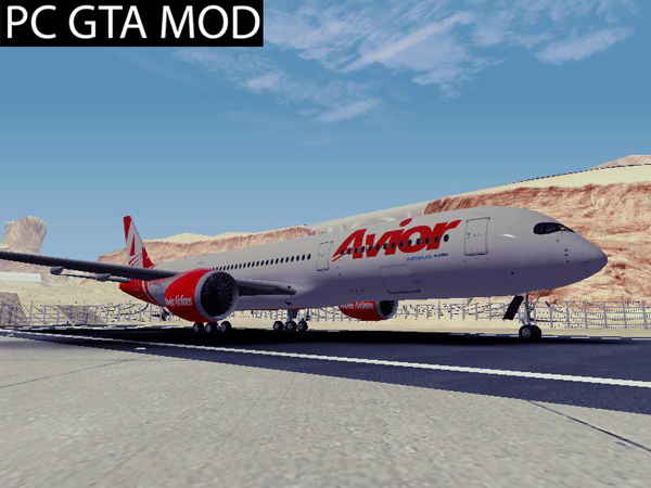 Free DownloadAirbus A350 Avior Airlines (Fictional)    Mod for GTA San Andreas.