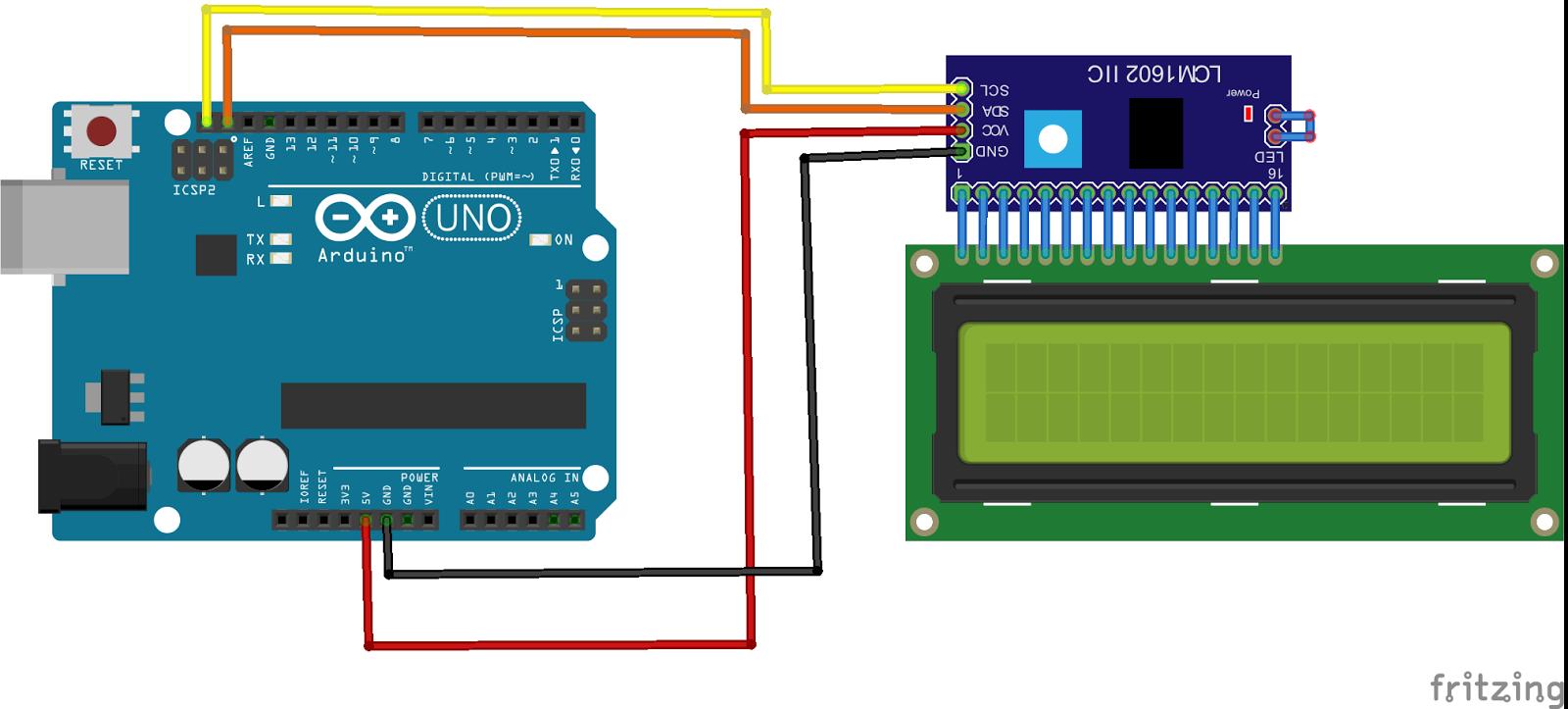 Lensa Coding: Program LCD i2C 16x2 Menggunakan Arduino
