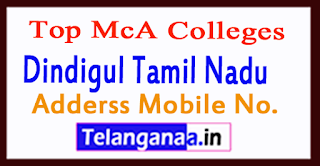 Top MCA Colleges in Dindigul Tamil Nadu