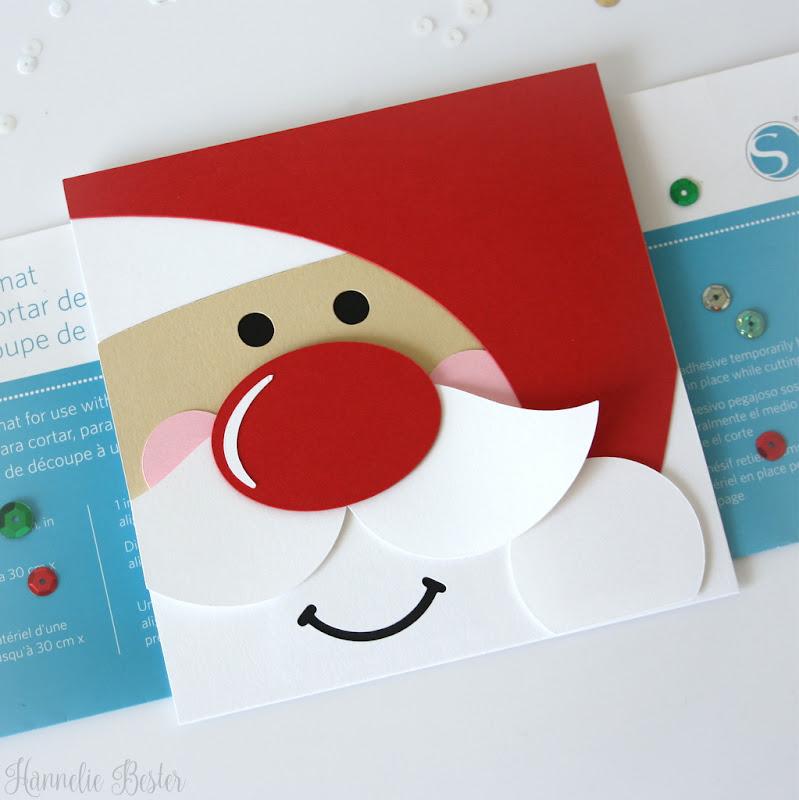 Cute Santa square Christmas card