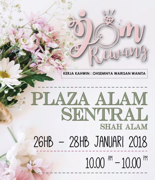 Pameran Pengantin Jom Rewang 2018 - Save The Date
