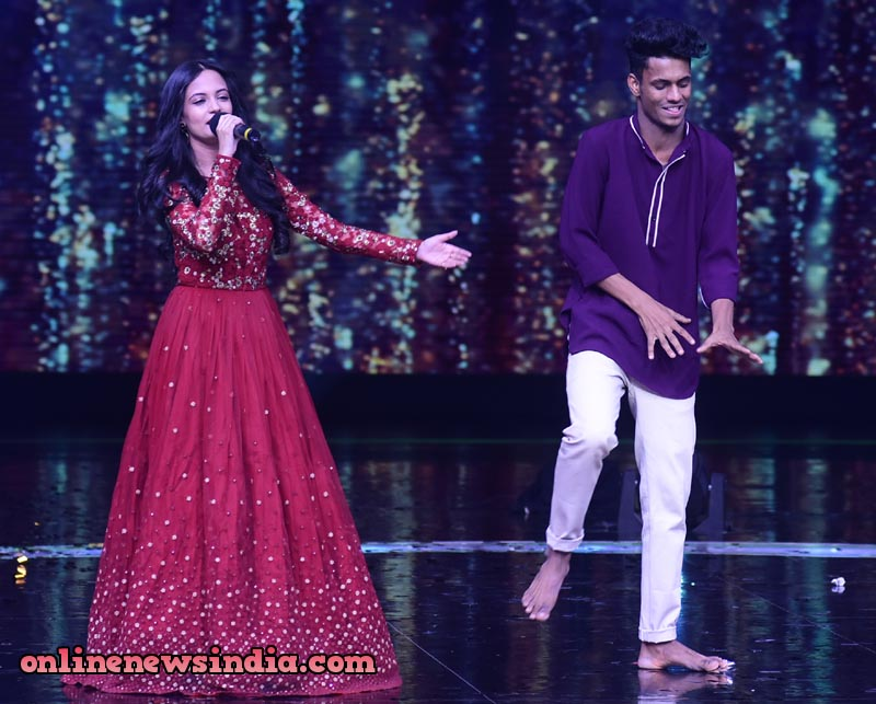 Ketaki Mategaonkar with Contestant Chetan Salunkhe on Dance Plus 4