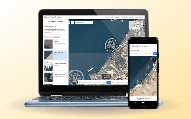 جوجل توفر لك تجربة مشاهدة تغيرات سطح الأرض عبر 35 عام..اليك طريقة تجربتها