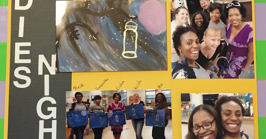 "Yvette ""The Techie Scrapper"": National Scrapbook Weekend - Ladies Night - Wine and Canvas 6May 2016"