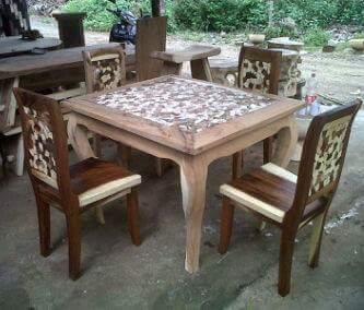 contoh meja makan unik dan antik