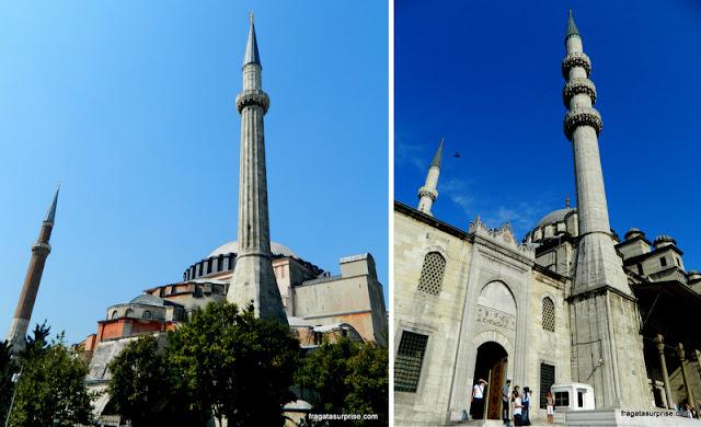 Minaretes em Istambul, Turquia