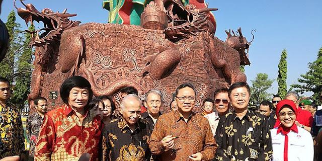 Ketua MPR Resmikan Patung Konco Kwan Sing Tee Koen Paling besar Se-Asia Tenggara