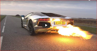 Lamborghini Aventador LP700 SPITTING HUGE FLAMES!