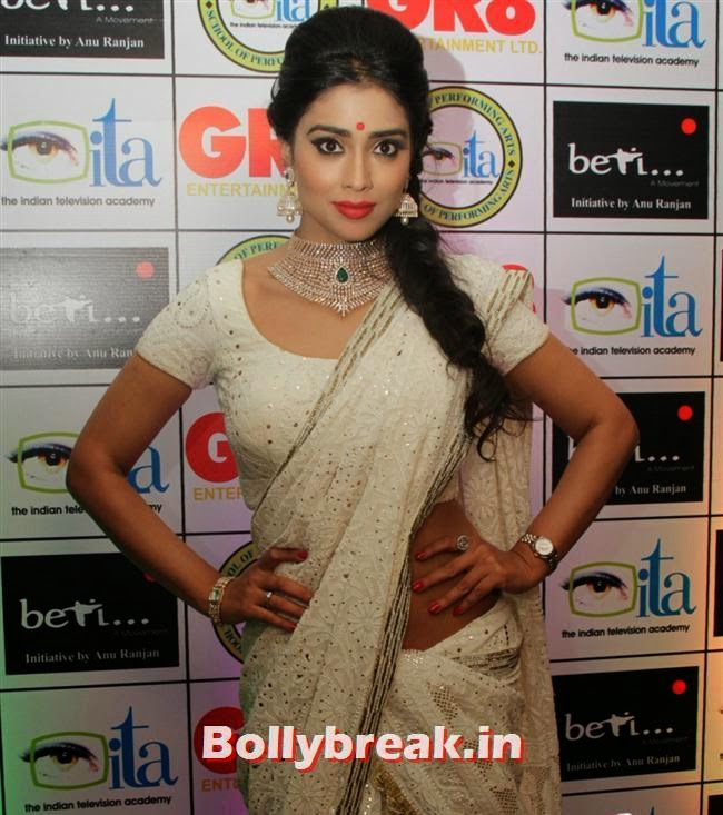 Shriya Saran at 'GR8! Women Awards 2014' held in Hyderabad, Shriya Saran, Sridevi, Tamanna at GR8 Women Awards 2014