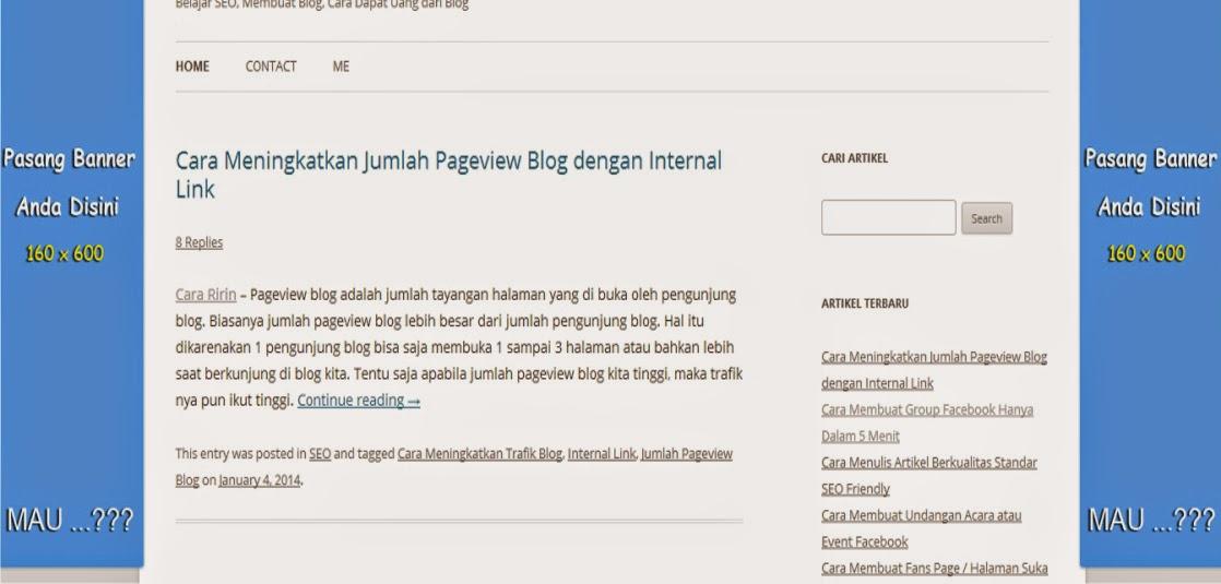 Cara membuat iklan melayan di kanan kiri blog