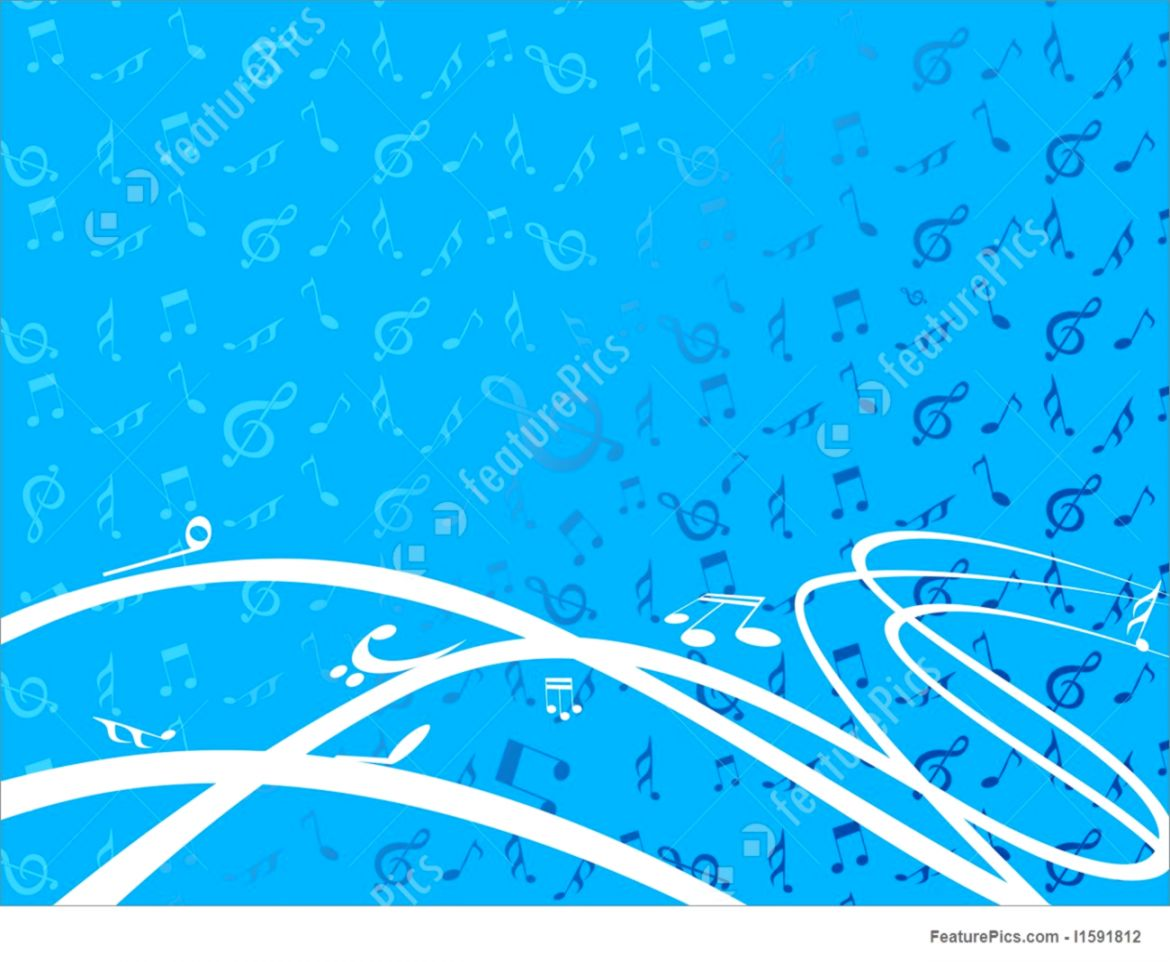 Musical Instruments Vector Wallpaper With Music Notes Stock