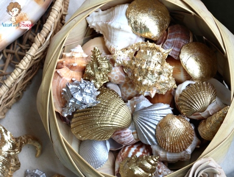 how to gild seashells