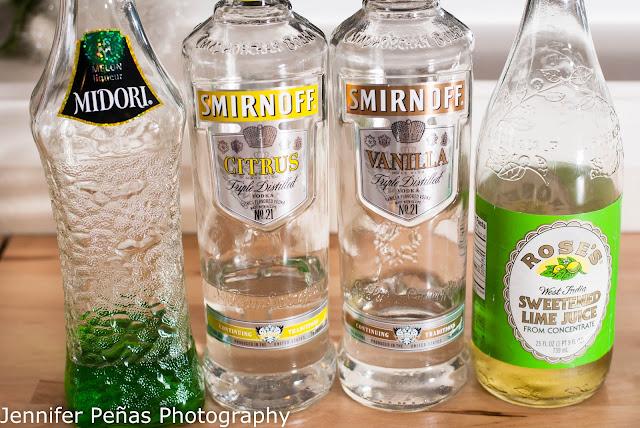 vanilla vixen, vanilla vodka, citrus vodka, midori, melon liqueur, lime juice, christmas cocktail
