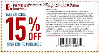 free Famous Footwear coupons for december 2016