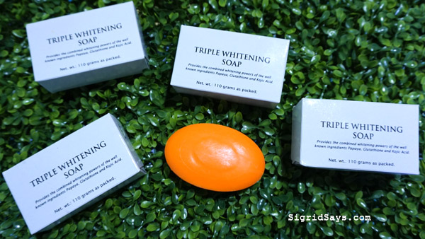 effective triple whitening soap - papaya kojic acid glutathione
