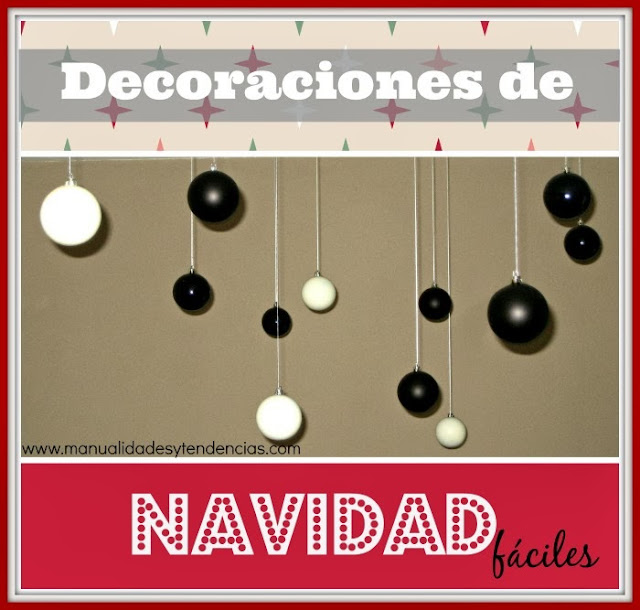 Decoración navideña con bolas de Navidad / Christma decoration with bauble / Décoration de Noël avec des boules de Noël