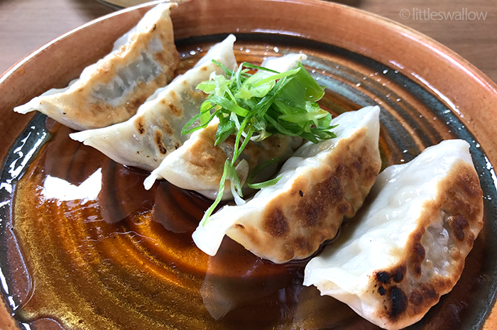 Zushi, Barangaroo: Pork gyoza - pan-fried pork dumplings, japanese vinegar