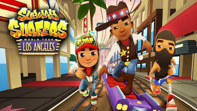 Download Subway Surfers Mod Unlimited money and keys versi 1.39.0 Los Angles