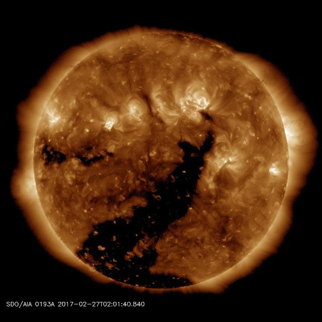 MT. Etna Erupts/Ash Warning Map.  Coronalhole_sdo_blank