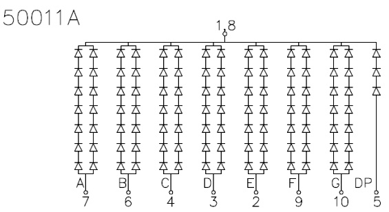 Dynamic Electronics High Voltage Seven Segment Led
