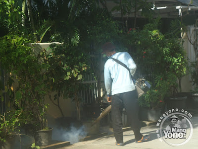 Pemberantasan nyamuk DBD dengan fogging / pengasapan