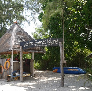 Pulau Beralas Putih, White sands di Bintan