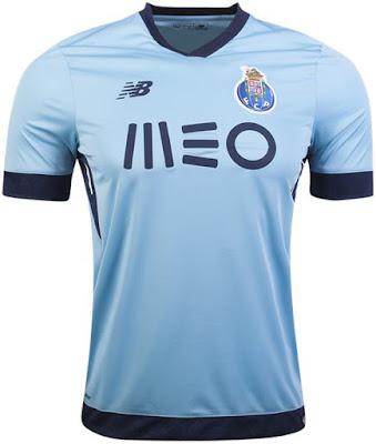 New Balance FC Porto 2017-18 3rd SS Jersey - Air Blue