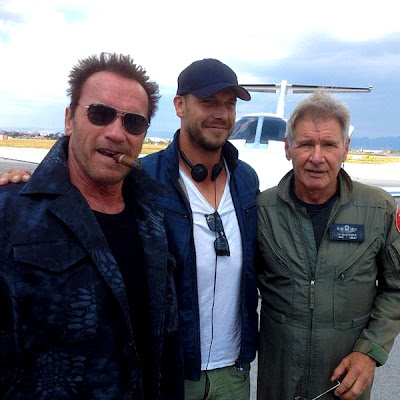 The expendables 3 - Arnold Schwarzenegger, Patrick Huges si Harrison Ford