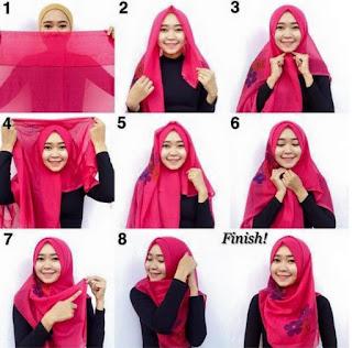 Contoh Hijab Pashmina Kaos Modern