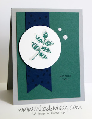 Stampin' Up! Oh So Eclectic Masculine Card ~ Missing You ~ 2017-2018 Annual Catalog ~ www.juliedavison.com