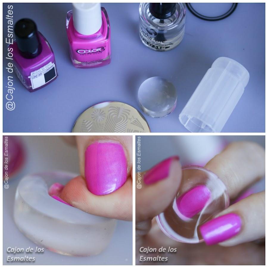 Sello o estampador de uñas transparente