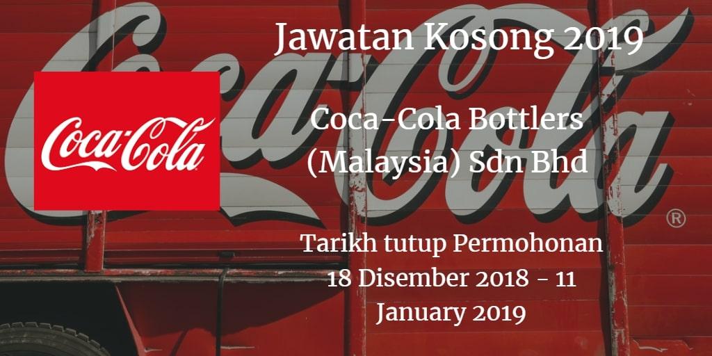 Jawatan Kosong Coca-Cola Bottlers (Malaysia) Sdn Bhd 18 Disember  2018 - 11 January 2019