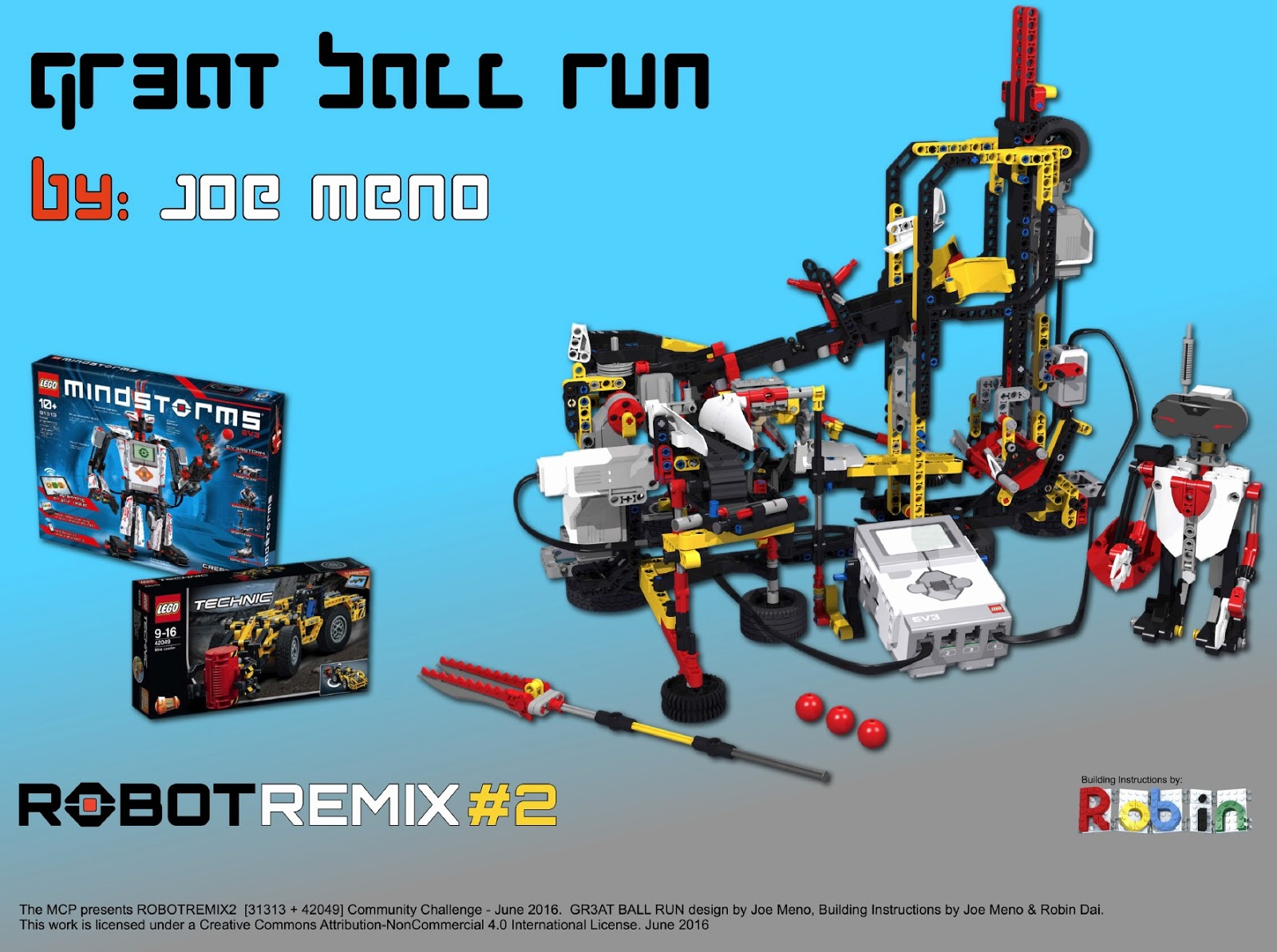 ROBOTREMIX2 - BUILDING INSTRUCTIONS 3 of 4 - GR3AT Ball Run | The