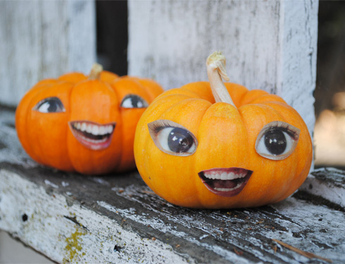 Zakka life no carve pumpkin faces - Calabazas decoradas para halloween ...