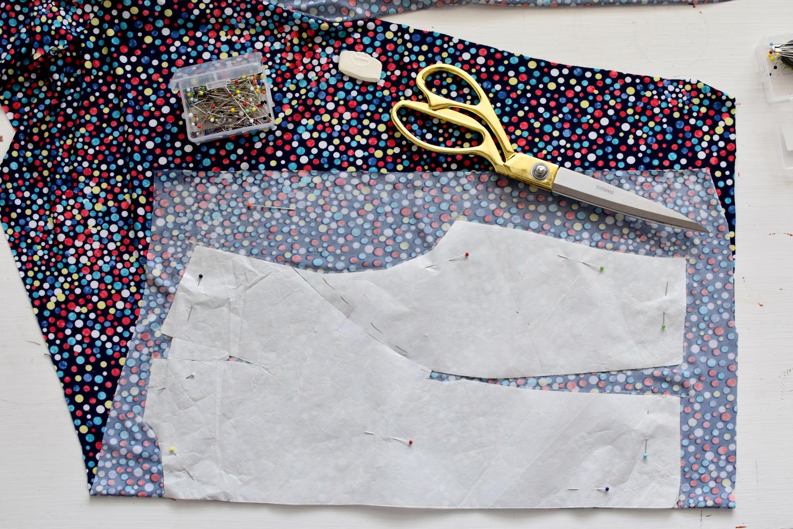 941a4a37421a SIY  ako sme šili pestrofarebné bodkované šaty    colorful polka dots  summer dress