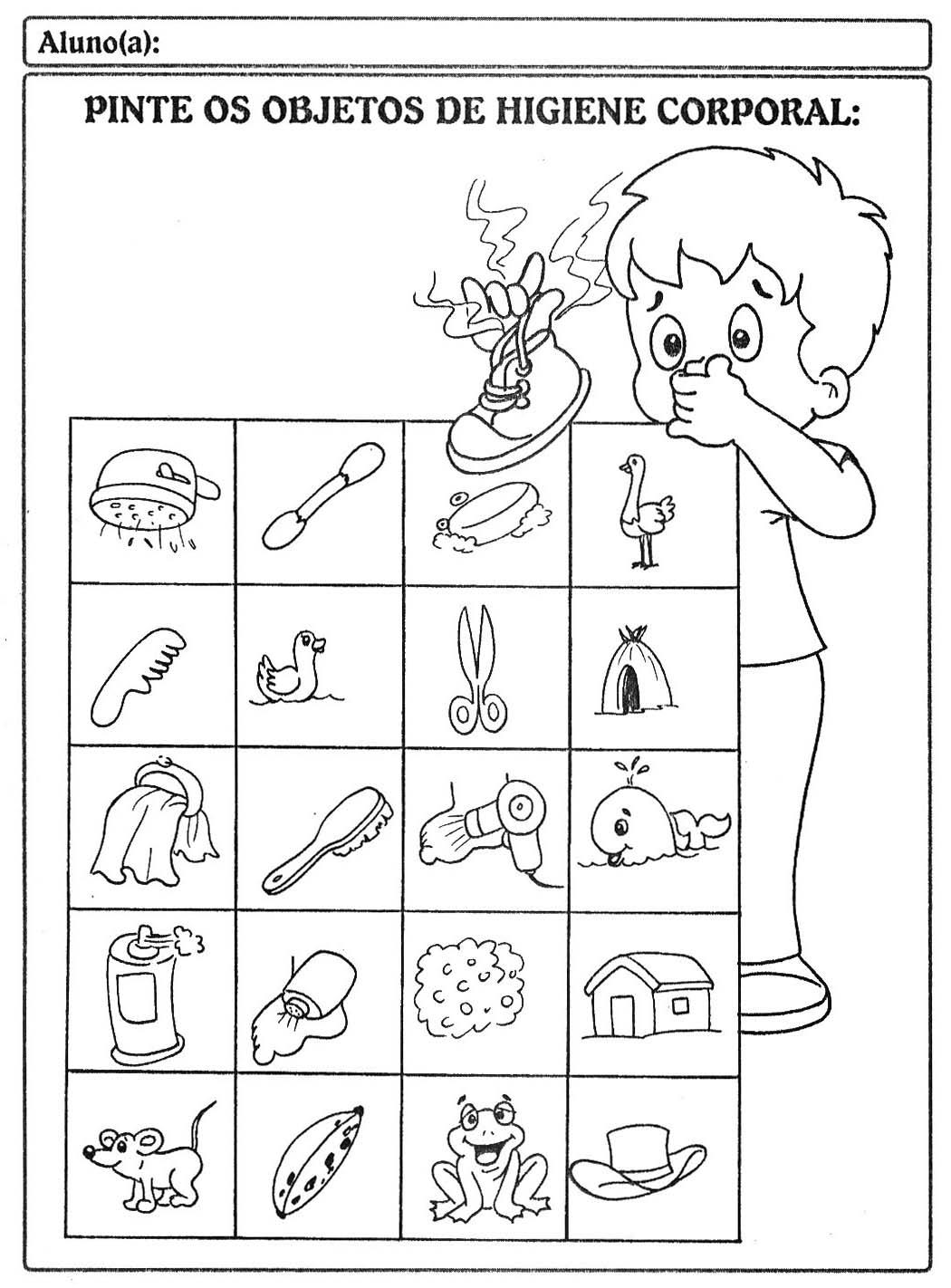 Extremamente Sequência Didática - Higiene e Saúde para crianças — SÓ ESCOLA NK28