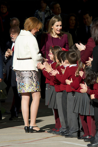 Princess Letizia attended the First International Congress of School Uncommon Diseases at La Salle School in Almaria