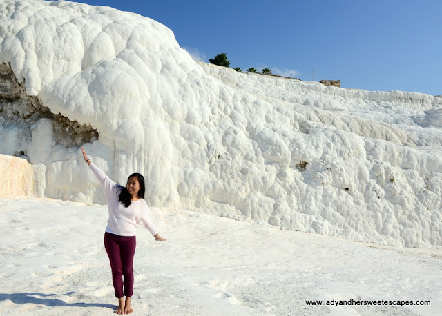 Lady at the Cotton Castle Pamukkale