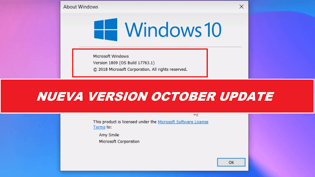 Windows 10 Pro RS5 1809 17763.1 [Idioma Español] [32 Bit] – October Update – !!Nuevo!!