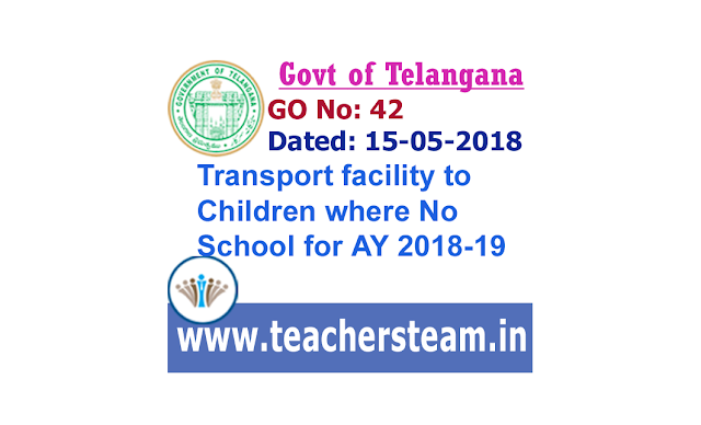Transport facility to the Children of the Habitations without Schools for Academic year 2018-19