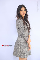 Actress Chandini Chowdary Pos in Short Dress at Howrah Bridge Movie Press Meet  0046.JPG