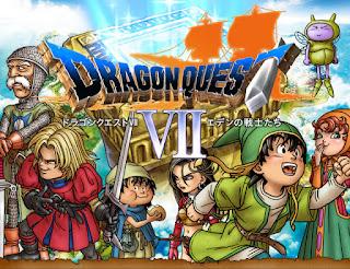 Imagen con el arte gráfico del cartucho del disco de Dragon Quest VII, PLAYSTATION, 2000, Enix