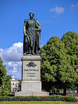 Statue of Carl XIV Johan in Norrköping Sweden