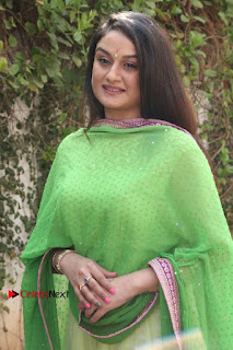 Actress Sonia Agarwal Stills in Green Anarkali Dress at Agalya Tamil Movie Launch  0004.jpg