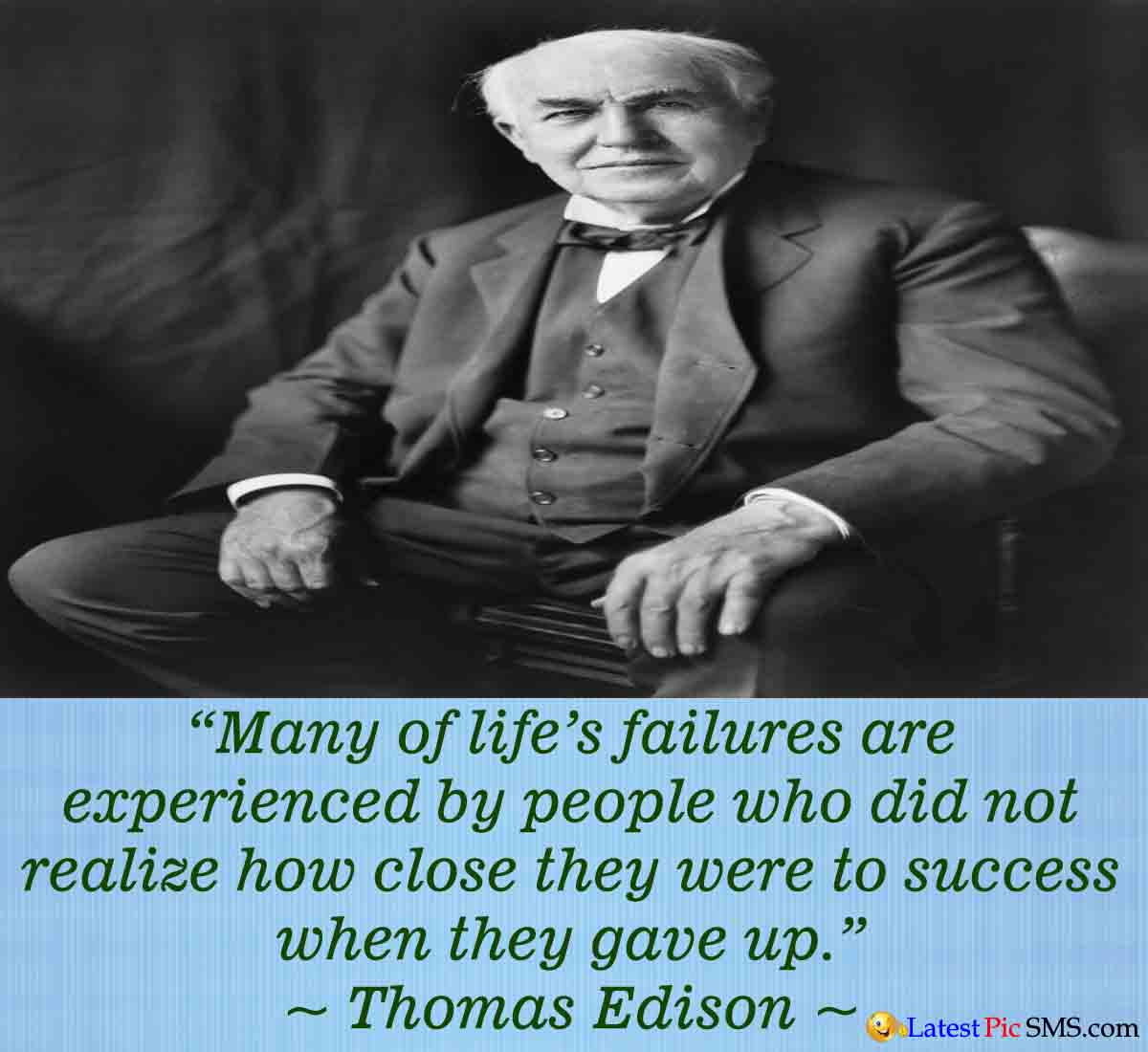 Thomas Edison life quotes - Thoughts on Life Images for Whatsapp and Facebook