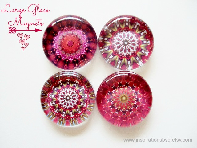decorative pink magnets
