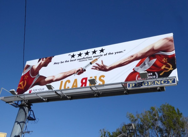 Icarus documentary FYC billboard