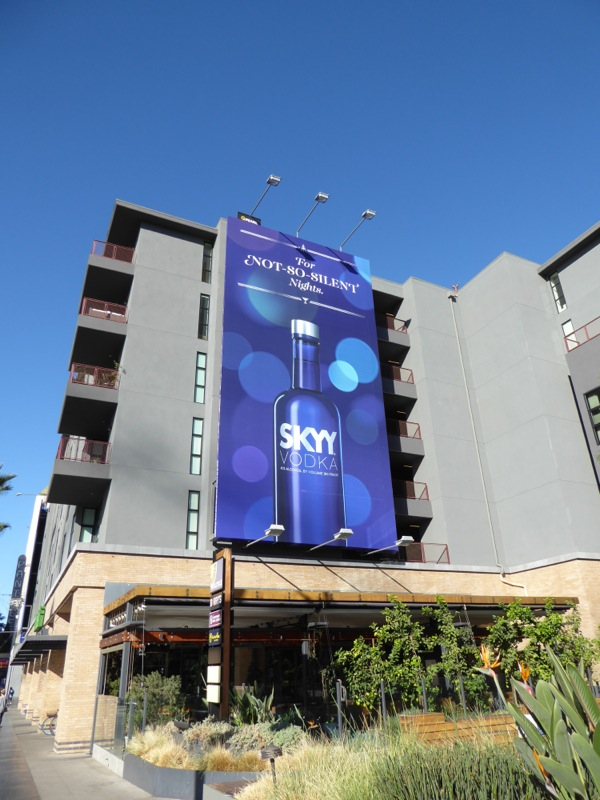 Skyy Vodka not so silent nights billboard