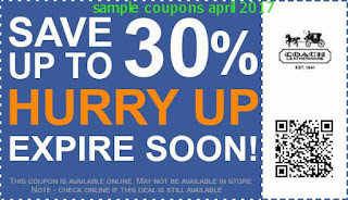 Coach coupons april