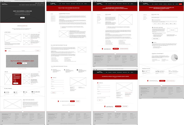 Website Wireframes for New Song Mission - Planning Stage